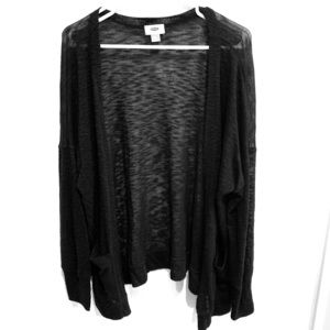 Plus Size Sheer Open Front Cardigan